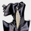 Clear Rhinestone Fringe Statement Earring on Gold