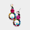 Little Girls Multi-Color Earrings on Black