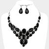Black Cluster Vine Necklace and Earrings