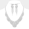 Clear Crystal Rhinestone Collar Evening Necklace | Prom Necklace