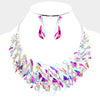 AB Crystal Abstract Evening Necklace| Bling Necklace | Fashion Necklace| 440160