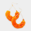 Fun Fashion Orange Drop Tassel Earrings