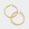 Gold Hoop Catch Earrings | 2.25""