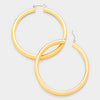 14K Gold Filled Metal Hoop Earrings | 3""