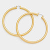 Gold Metal Hoops Pin Catch Earrings | 3""