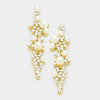 Rhinestone and Cream Pearl Bridal Earrings | Wedding Earrings | 336971