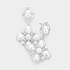 Elegant White Pearl and Rhinestone Wedding Earrings| Bridal Earrings