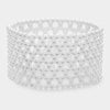 White Pearl Stretchable Bridal Bracelet | Wedding Bracelet
