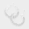 Clear Crystal Rhinestone Hoop Earrings