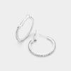 Little Girls Clear Rhinestone Hoop Earrings