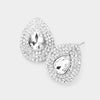 Elegant Crystal Rhinestone Pear Shaped Stud Earrings | 476855