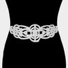 Elegant Crystal rhinestone prom bridal wedding belt