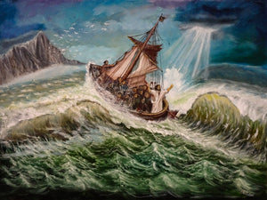 Jesus Calming the Storm at Sea