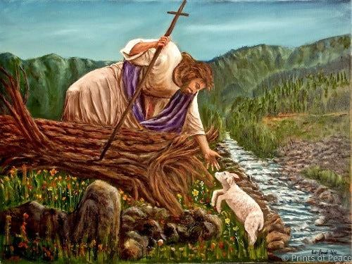 Jesus saves the lost lamb!