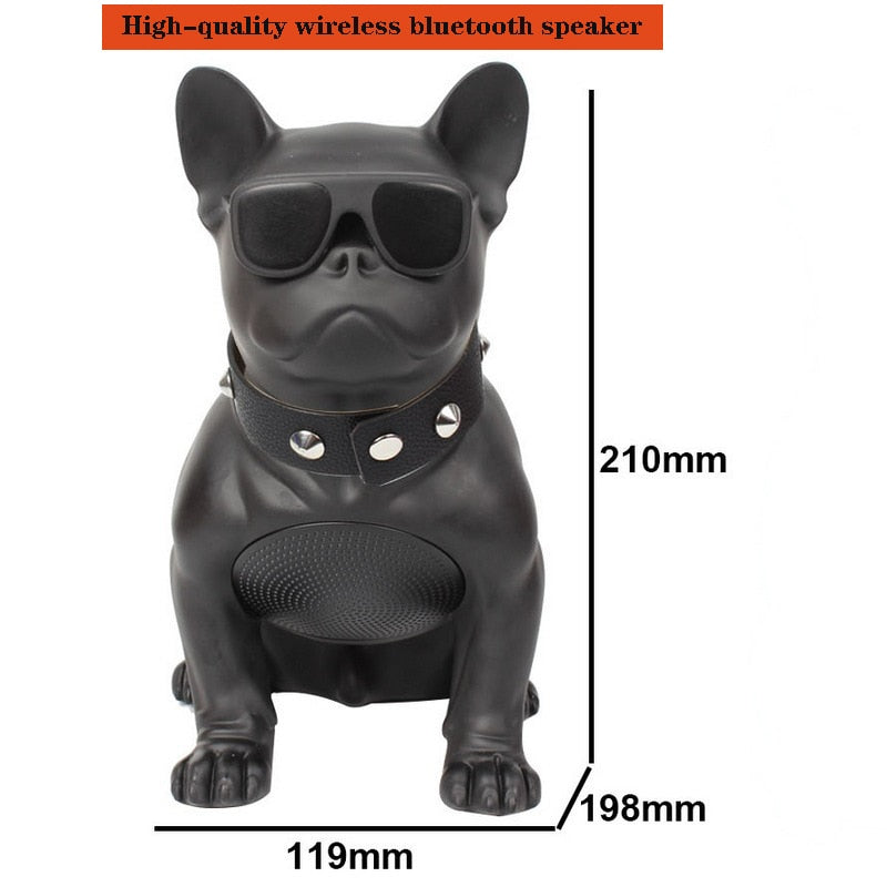 Wireless Bluetooth Speaker French Bulldog Subwoofer Multipurpose for Computer PC Speaker FM Radio Full Dog Portable Stereo Gift