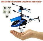 Flight Charging Helicopter with 3D Light & Safety Sensor (Blue)
