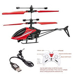 Flying Helicopter With Remote Control,Sensor, Usb Charger( Red)