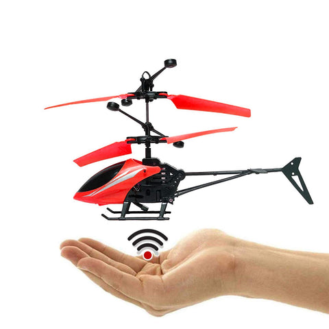 Charging Helicopter with 3D Light & Safety Sensor  for Boys Kids (Red)