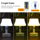 Remote Control and Rechargeable Table Lamp, Bed Lamp