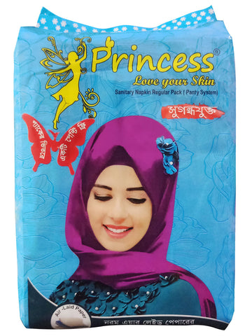 PRINCESS REGULER PACK SANITARY PADS FOR WOMEN (PANTY SYSTEM),10 NAPKINS