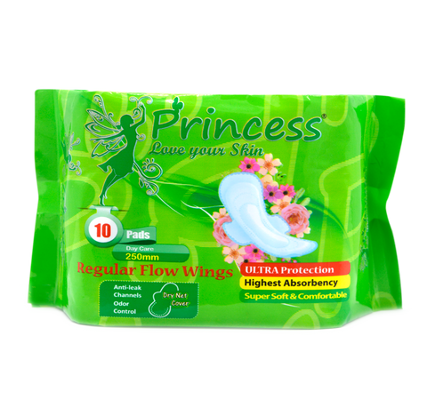 PRINCESS REGULAR FLOW WINGS 10 PADS