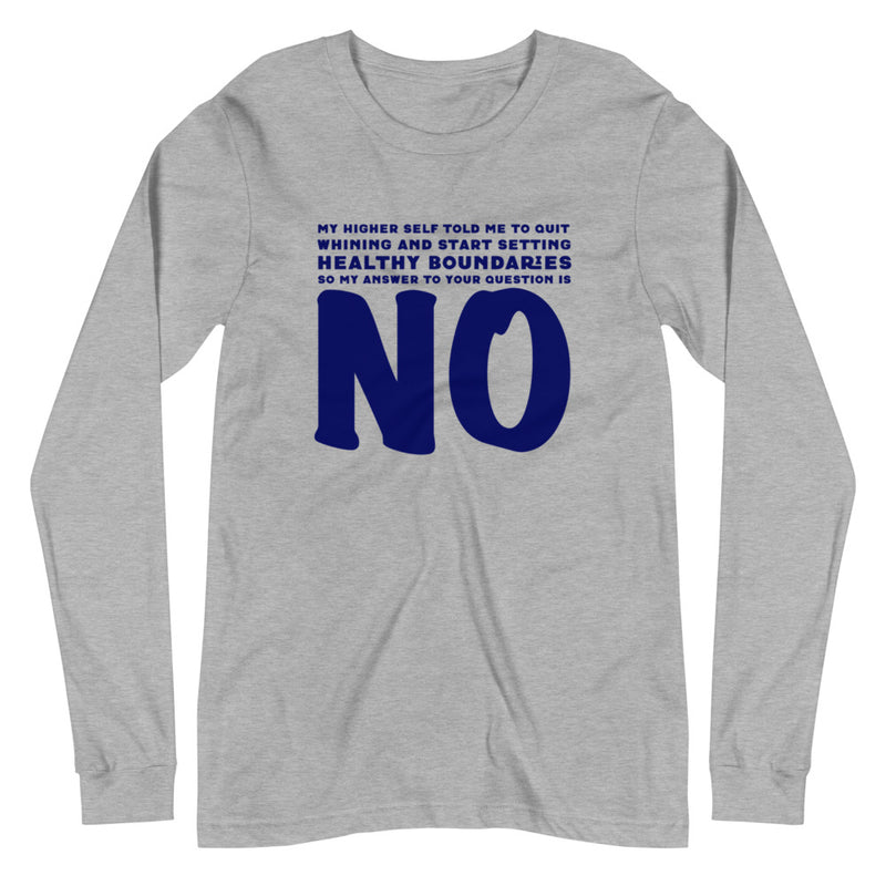 Healthy Boundaries - Women's Soft Long Sleeve Tee - StarSeed Gear