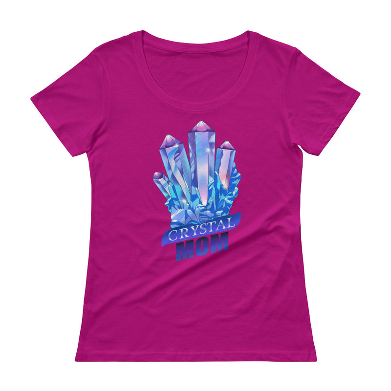 Crystal Mom - Women's Scoop Neck tee - StarSeed Gear