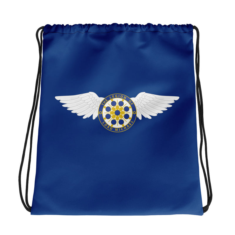 Archangel Michael Seal with Wings - Drawstring bag - StarSeed Gear