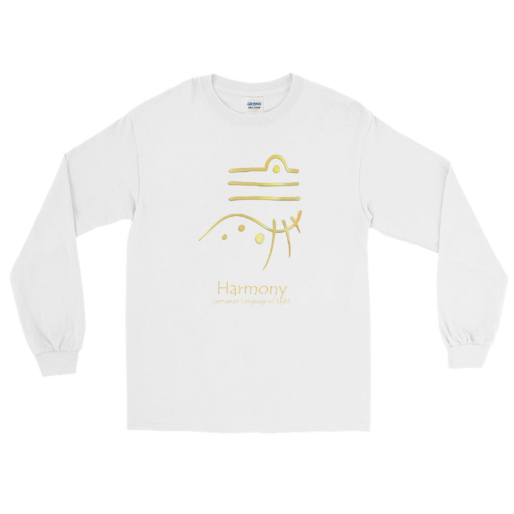 Lemurian Light Language Harmony - Men's Classic Long Sleeve Tee - StarSeed Gear