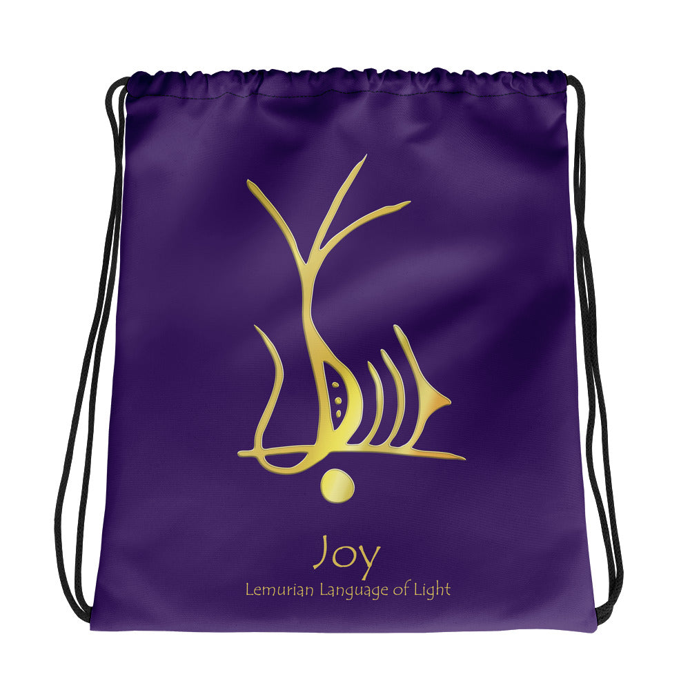 Lemurian Light Language Joy - Drawstring Bag - StarSeed Gear