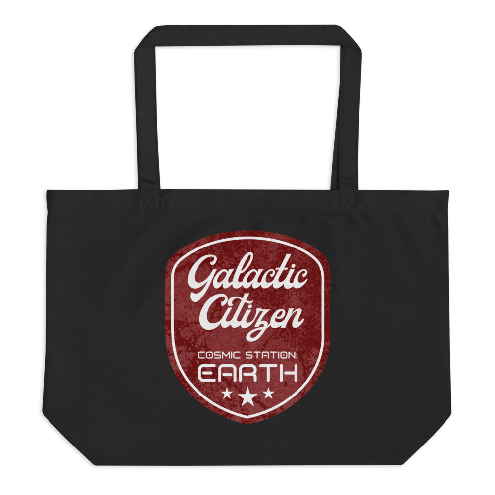 Galactic Citizen - Large Organic Twill Tote Bag - StarSeed Gear