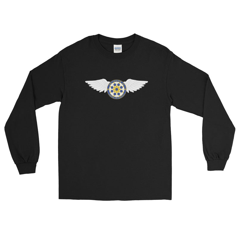 Archangel Michael Seal with Wings - Men's Classic Long Sleeve Tee - StarSeed Gear