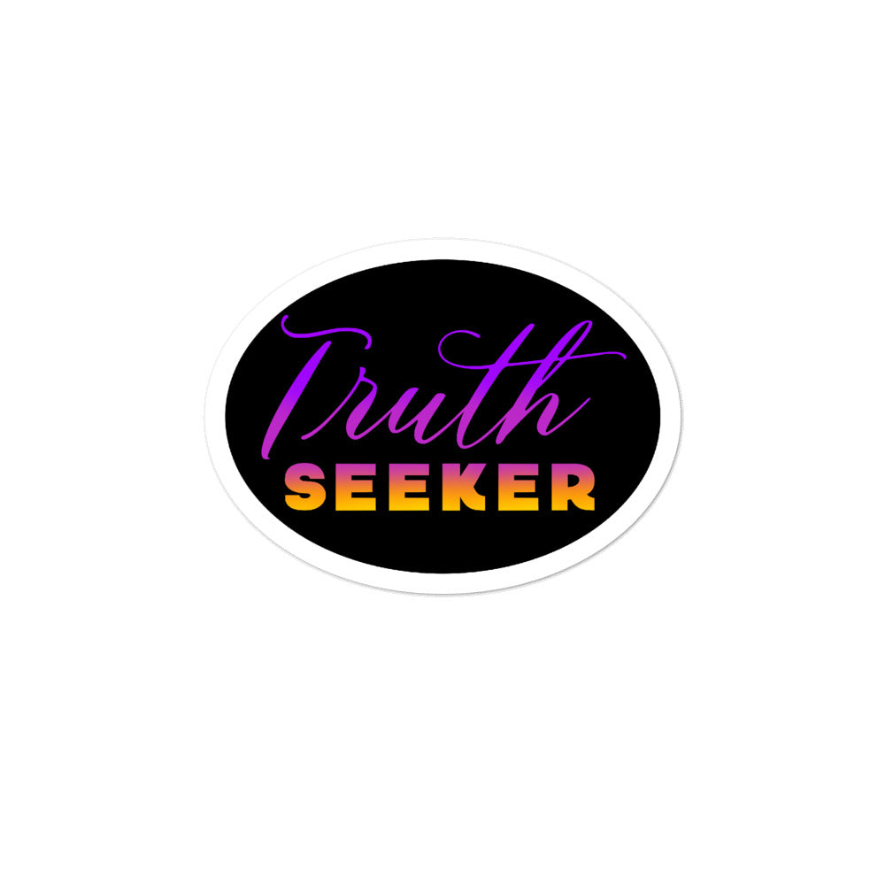 Truth Seeker - 3x3 and 5.5x5.5inch Bubble-Free Sticker - StarSeed Gear