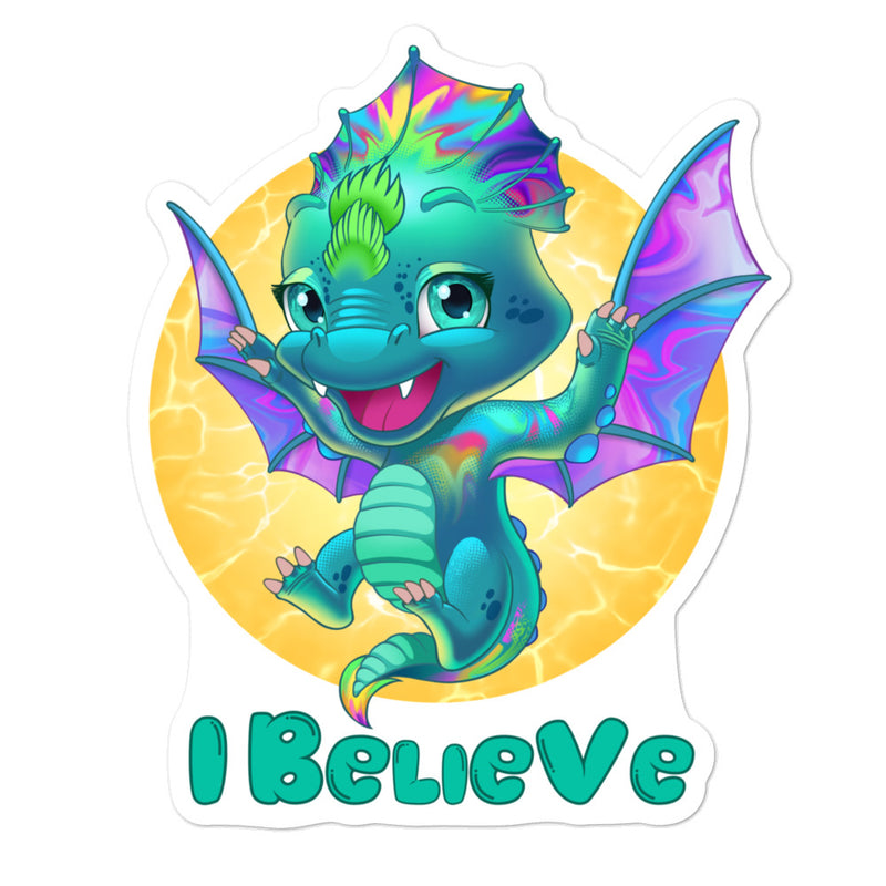 Dragons I Believe - 3x3 and 5.5x5.5inch Bubble-Free Sticker - StarSeed Gear