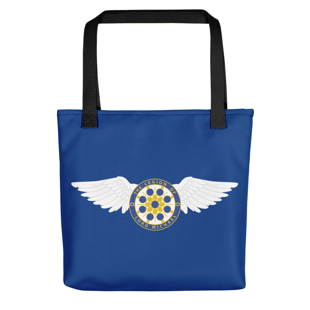 Archangel Michael Seal With Wings - Tote Bag - StarSeed Gear