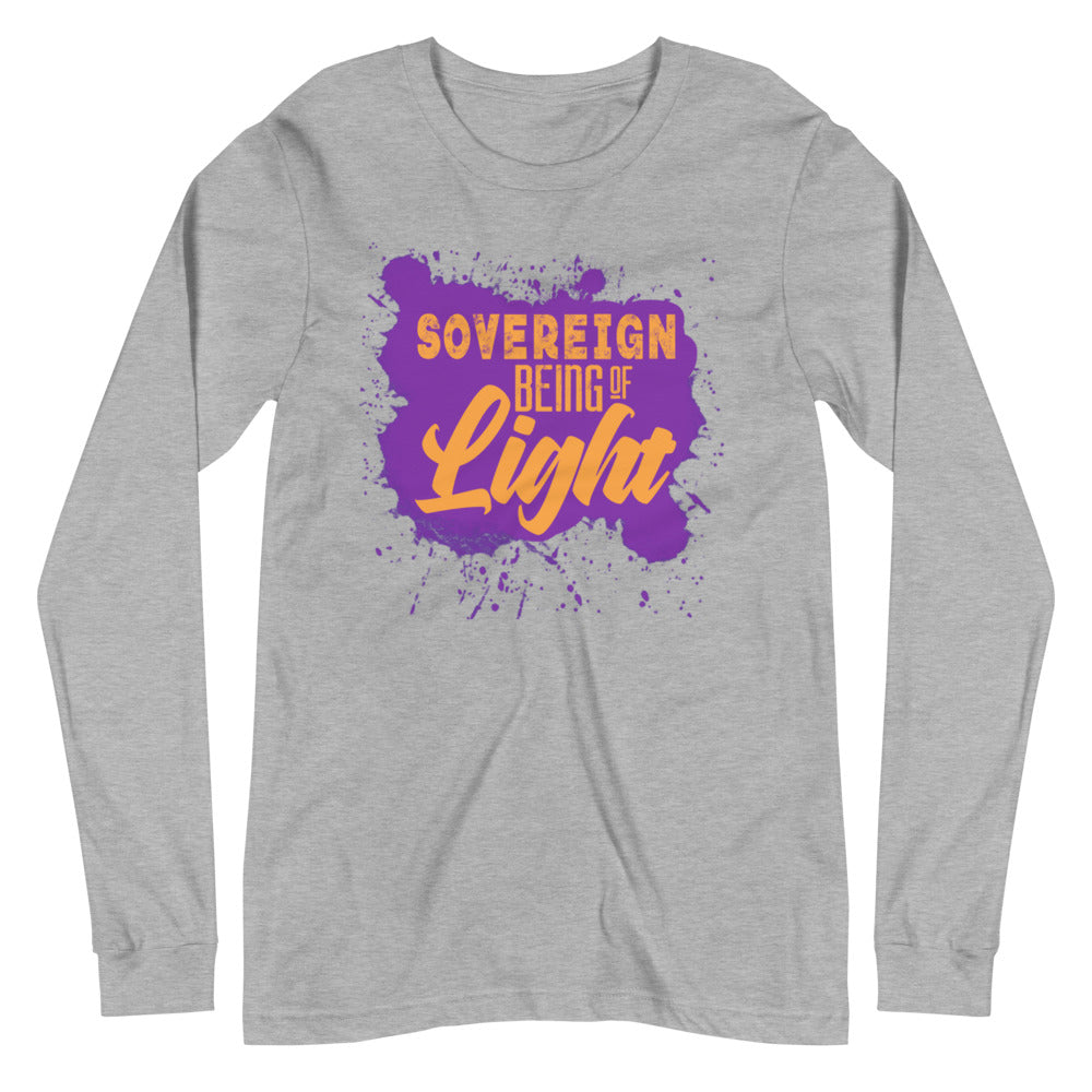 Sovereign Being of Light - Women's Soft Long Sleeve Tee - StarSeed Gear