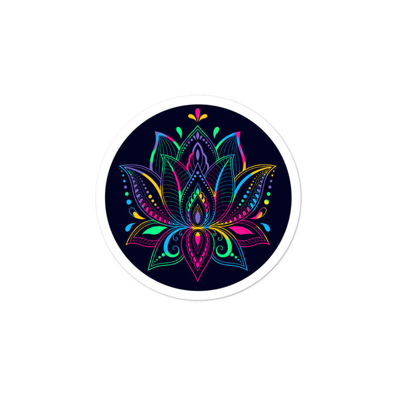 Colorful Lotus - 3x3 and 5.5x5.5inch Bubble-Free Sticker - StarSeed Gear