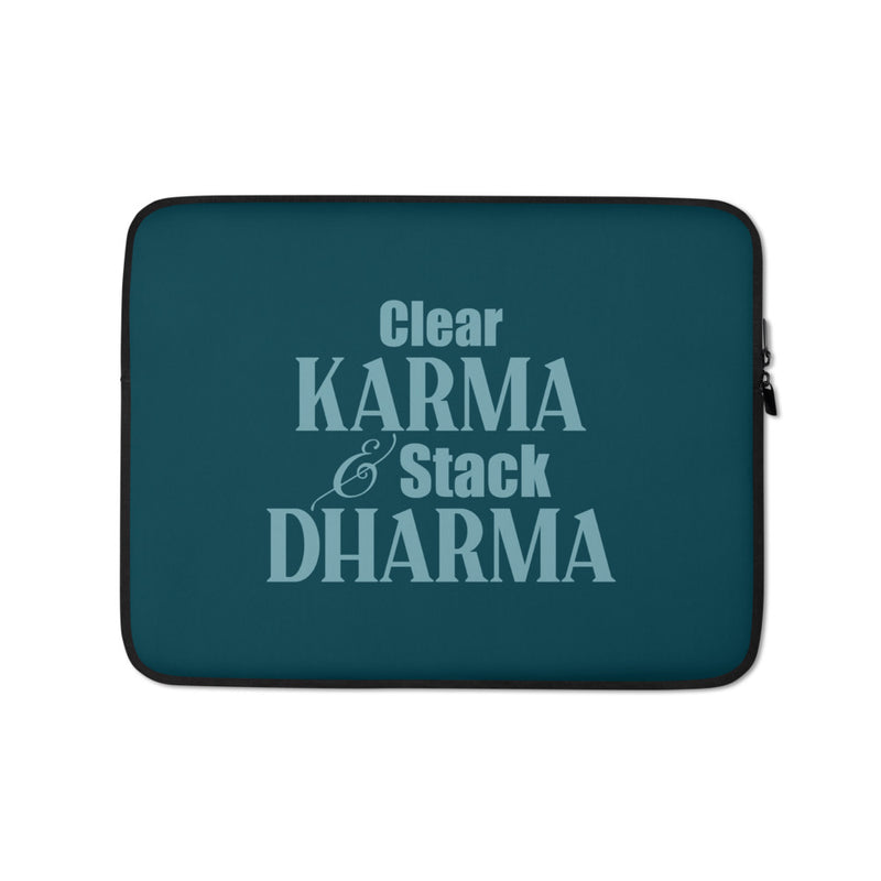 Clear Karma Stack Dharma - Laptop Sleeve - StarSeed Gear