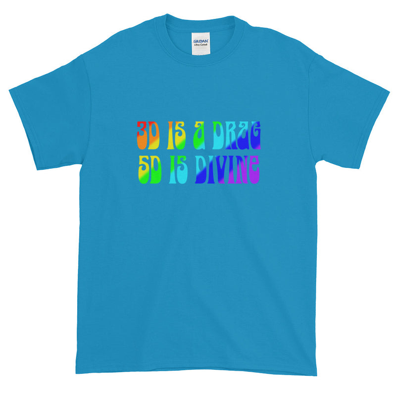 3D is a Drag 5D is Divine - Men's Classic Tee - StarSeed Gear