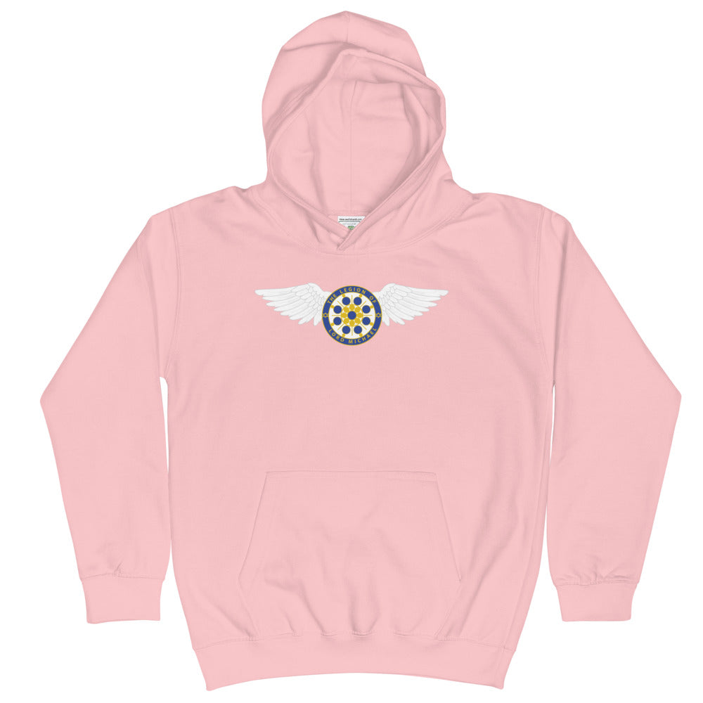 Archangel Michael Seal With Wings - Kids Hoodie - StarSeed Gear