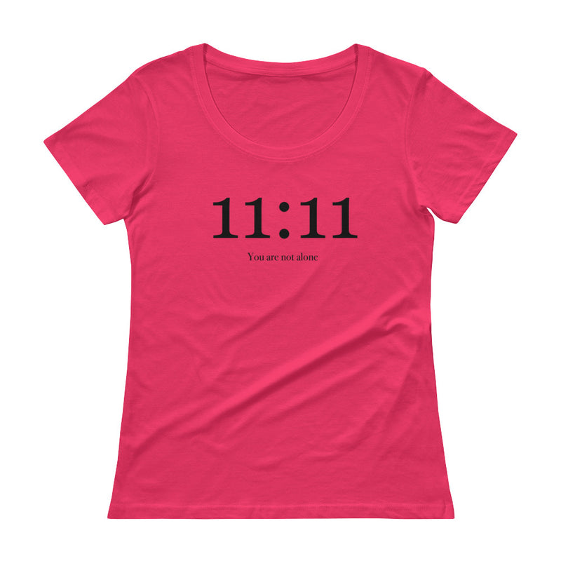 11:11 You Are Not Alone - Women's Scoop Neck Tee - StarSeed Gear