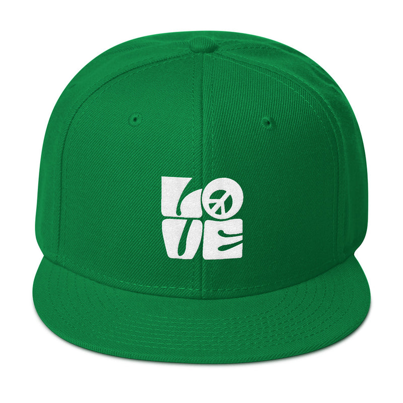 Love Peace White - Snapback Hat - StarSeed Gear