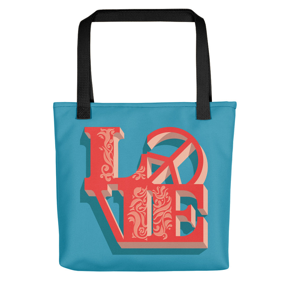 Love - Peace  - Tote bag - StarSeed Gear