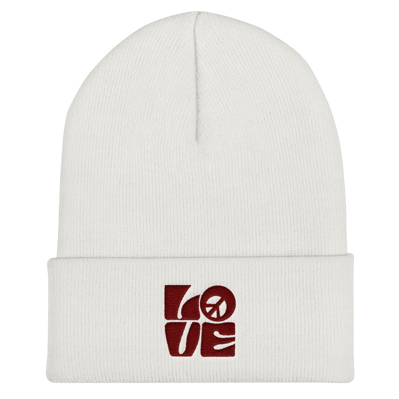 Love-Peace Maroon - Beanie - StarSeed Gear