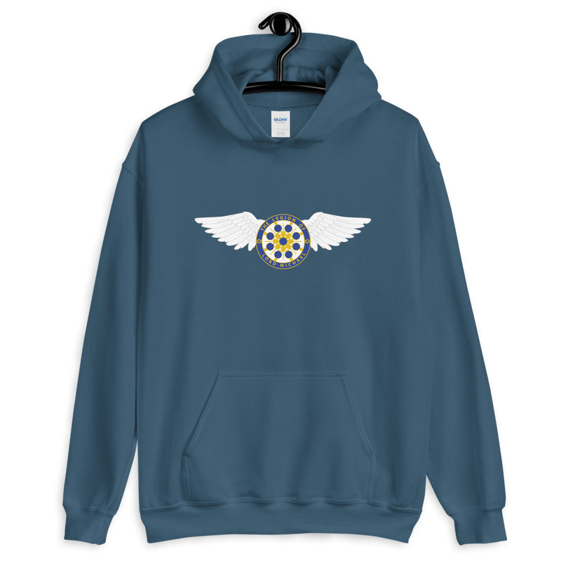 Archangel Michael Seal With Wings - Women's Hoodie - StarSeed Gear