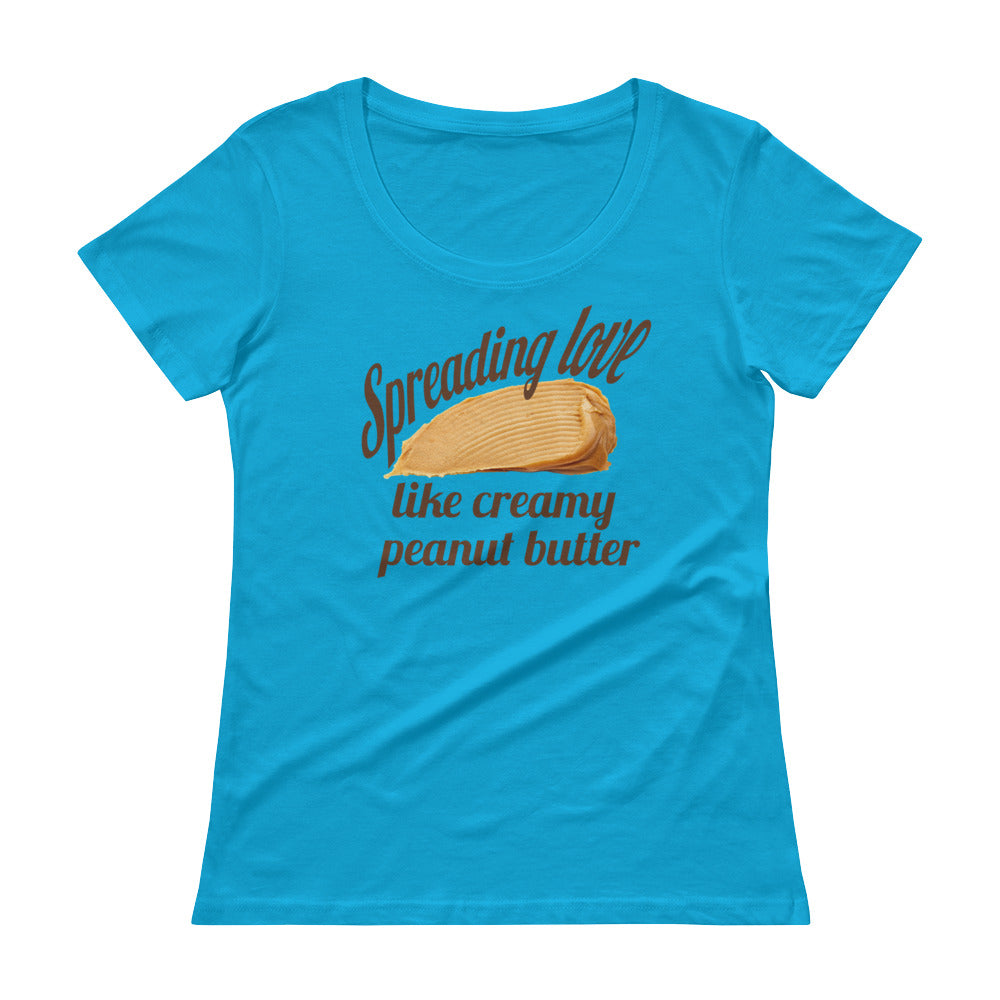 Spreading Love - Women's Scoop Neck Tee - StarSeed Gear