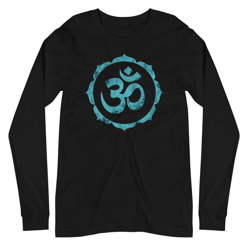OM In Lotus - Women's Soft Long Sleeve Tee - StarSeed Gear