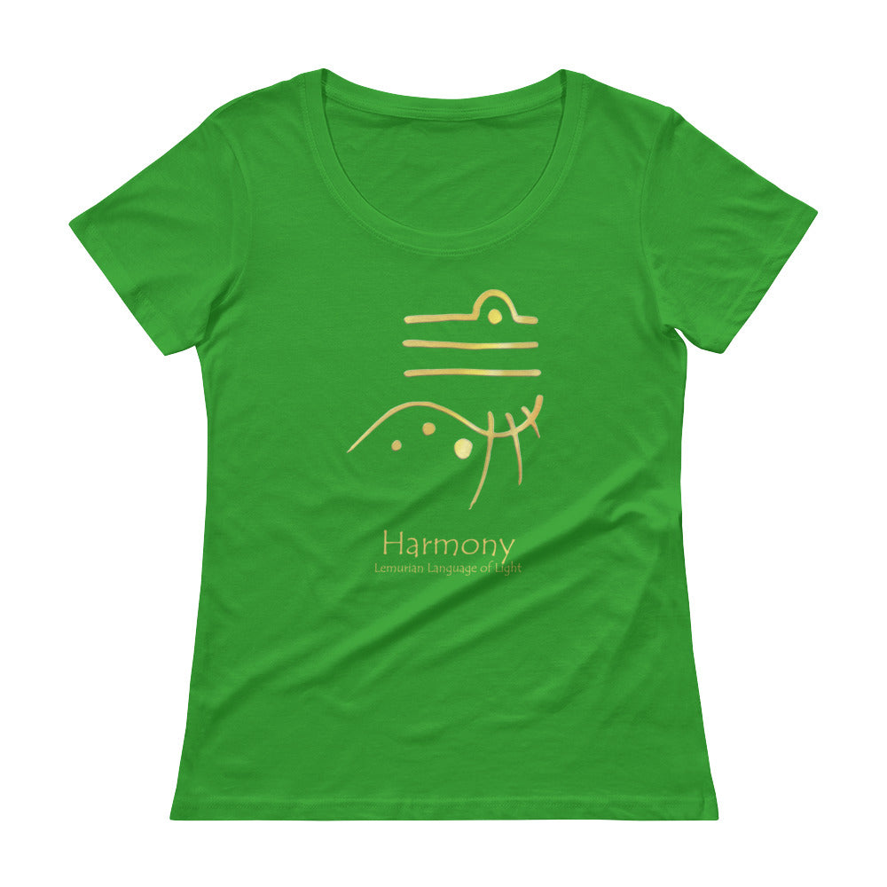 Lemurian Light Language Harmony - Women's Scoop Neck Tee - StarSeed Gear