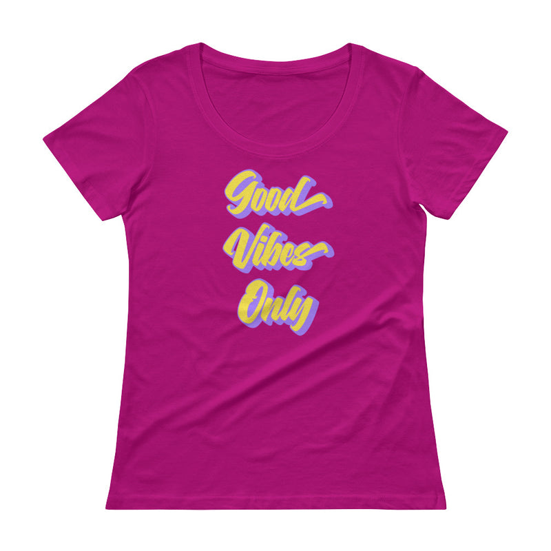 Good Vibes Only - Women's Scoop Neck Tee - StarSeed Gear