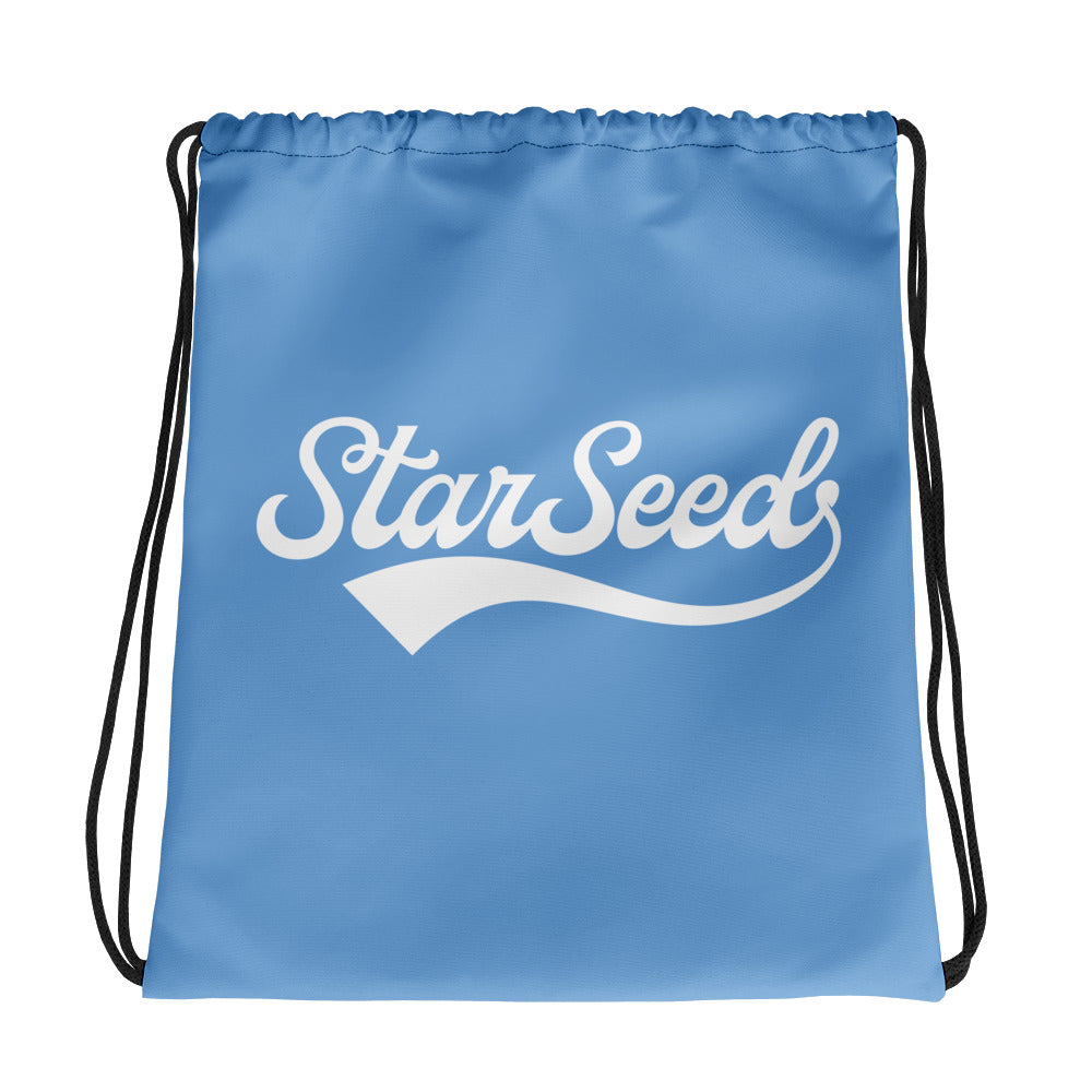 StarSeed Vintage Light Blue-White - Drawstring Bag - StarSeed Gear